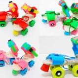 Ролики детские квадровые раздвижные 16-20 см. на обувь