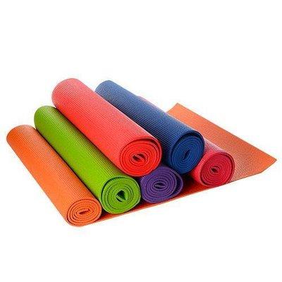 Коврик для фитнеса/йога мат 1184 гимнастический коврик , 6 цветов 172х61см, толщина 6мм