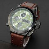 Армейские наручные часы AMST зеленый циферблат