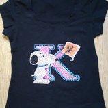 Новая футболка для девочек, размер XS