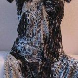 Платье с ярким коричневым принтом mexx... 0622