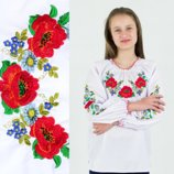 Рубашки для девочек Букет цветов от 7 до 16 лет