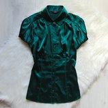 Шикарная атласная блуза для девушки. M&S. Размер 8 или S-M. Состояние идеальное