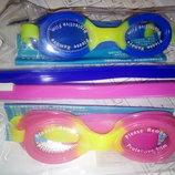 Очки для плавания , регулируемый ремешок, 6 цветов, в кульке, 20-8-2,5см