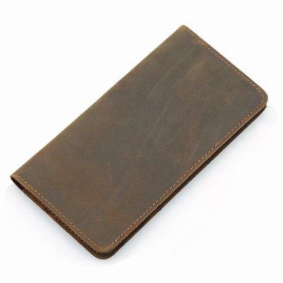 Вертикальное кожаное портмоне 8111B мужской кошелек, бумажник, купюрница