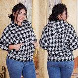 Женская стильная куртка с капюшоном в больших размерах 2023 Шанель Гусиная Лапка .