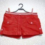 Шорты р.36-42 ATLANTIK мальчик девочка нарядное шикарное лето красные.