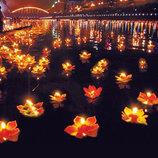 Плавающие водные фонарики для загадывания желаний. Шикарные праздничные декорации