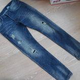 штаны джинсы 32/34 синие мужские новые H&M НМ рваные латки