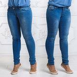 Женские летние стильные джинсы до больших размеров 003.
