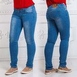 Женские летние стильные джинсы до больших размеров 004.