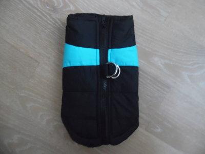 одежда для собак куртка синтипон теплая черная голубая на замке