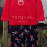 Пушистая флисовая пижама для мальчика 2-5 лет Primark