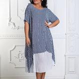 Платье полоска супер софт 46-56 р-р