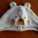 Фирменный комплект шапочка и рукавички Мишутка Mothercare