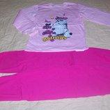 Утепленная пижама Котик с бабочками