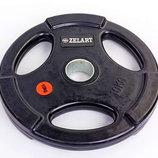 Блины обрезиненные диски обрезиненные с тройным хватом и металлической втулкой 5160-10 вес 10кг