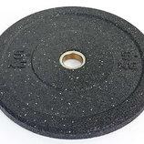 Бамперные диски для кроссфита из структурной резины Bumper Plates 5126-5 вес 5кг