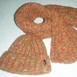 Шапка и шарф TOMS из буклированной пряжи