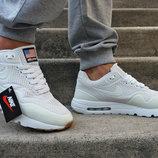 Кроссовки демисезонные Nike Air Max 1 Ultra Moire White белые светящиеся.