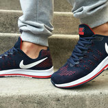 Кроссовки летние Nike Zoom Pegasus 33 Navy/ Red /White