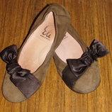 Туфли балетка PAPANATAS Испания кожаные р.33 стелька 21 см