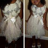 Нарядное платье American Princess Girls' Sequin Corkscrew Dress 3-4 года