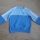 спортивная кофта 3-4 г мальчику девочке детская голубая Adidas Адидас синяя фирменная