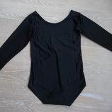 трико черное 8-10 л одежда для танцев гимнастики балет UNI