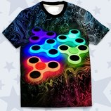 Модная 3D футболка Спиннеры