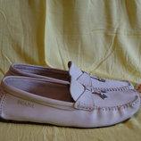 Комфортные кожаные мокасины цвета слоновой кости Scapa Authentic shoes Бельгия - Испания. 40 р.