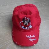 кепка красная 3-5 л минни маус горох новая Disney Дисней