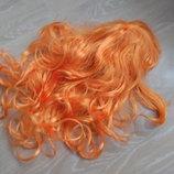 карнавальный костюм парик волосы оранживое русалка лиса