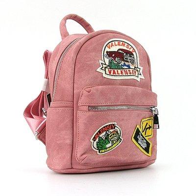 c5fd67280745 Рюкзак - сумка малая кожзам молодежная розовая Valensiy 652-9: 650 ...