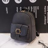 Стильный городской рюкзак со змеиным карманом и пряжкой В Наличии