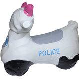 Прыгун резиновый транспорт Полицейский мотоцикл BT-RJ-0034