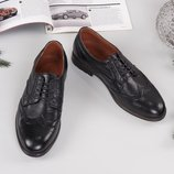 Мужские туфли-броги Качество Люкс