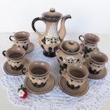 Кофейный сервиз керамический на 6 персон