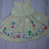 Фирменное хлопковое детское платье h&m