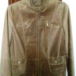 GERRY WEBER шикарная лёгкая куртка, натуральная кожа, разм 42-44. Летняя скидка.