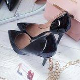 Классические женские туфли лодочки,черные,беж,желтые,голубые