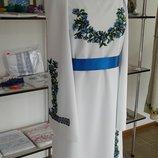 Заготовка платья вышита бисером. Ручная работа