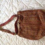 Интересная шерстяная сумка-мешок. Оригинал Италия