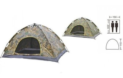 Палатка-Автомат с автоматическим каркасом двухместная туристическая Shengyuan SY-A01-F размер 2х1,5