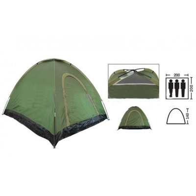 Палатка универсальная самораскладывающаяся трехместная Shengyuan SY-A-35-O размер 2х2х1,4м