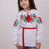 Вишиванка для дівчинки Казка. Вышиванка для девочки. Размеры 122-146