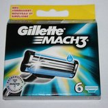 GILLETTE Mach3 упаковка 6 штук оригинал немецкие для продажи в Германии