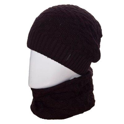 Набор мужской LOKI1 шапка-чулок на флисе и хомут в разных цветах и размере 56-60