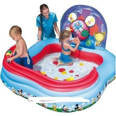 Детский надувной игровой центр бассейн BestWay 91015 Микки Маус