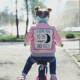 Демисезонная деми кожаная куртка косуха для девочки 80 86 92 98 104 110 116 122 128 134 140 розовый